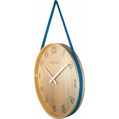 NeXtime Loop Wall Clock Blue 40cm 573234BL Angle2