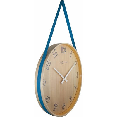 NeXtime Loop Wall Clock Blue 40cm 573234BL Angle1