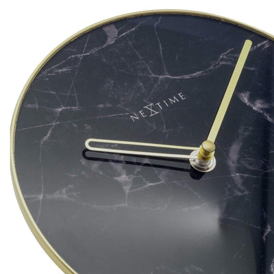 NeXtime Marble Glass Desk Clock Black and Gold 20cm 575222ZW 3