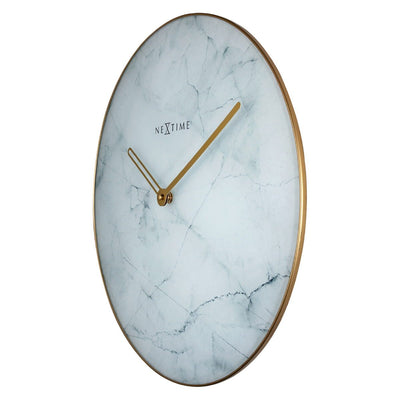 NeXtime Marble Wall Clock White 40cm 578189WI 1