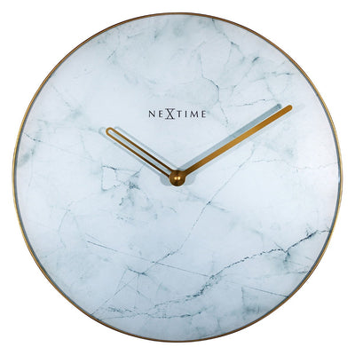 NeXtime Marble Wall Clock White 40cm 578189WI 2