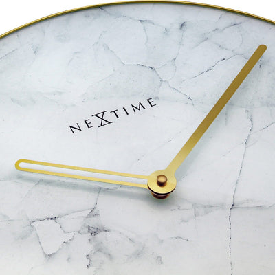 NeXtime Marble Wall Clock White 40cm 578189WI 5