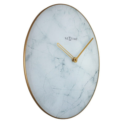 NeXtime Marble Wall Clock White 40cm 578189WI 6