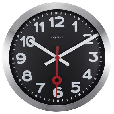 NeXtime Numerical Station Wall Clock Black 35cm 573999ARZW 2