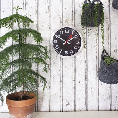 NeXtime Numerical Station Wall Clock Black 35cm 573999ARZW 7