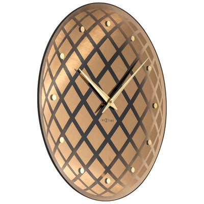NeXtime Pendula Round Wall Clock Copper 43cm Angle 578185CO