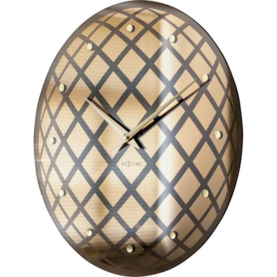 NeXtime Pendula Round Wall Clock Copper 43cm Angle Left 578185CO