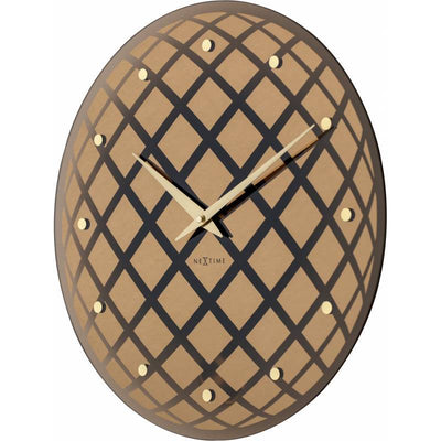 NeXtime Pendula Round Wall Clock Copper 43cm Angle6 578185CO