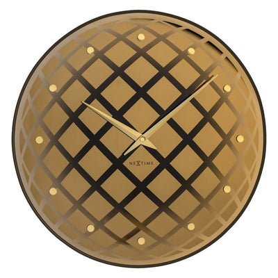 NeXtime Pendula Round Wall Clock Copper 43cm Front 578185CO