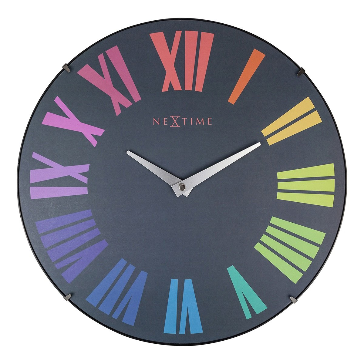 NeXtime Multicoloured Roman Dome Wall Clock, 35cm