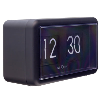 NeXtime Small Flip Wall or Desk Clock Black 18cm 575228ZW 1