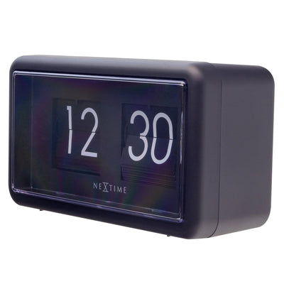 NeXtime Small Flip Wall or Desk Clock Black 18cm 575228ZW 2