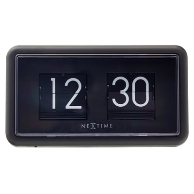 NeXtime Small Flip Wall or Desk Clock Black 18cm 575228ZW 3