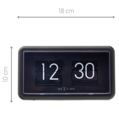 NeXtime Small Flip Wall or Desk Clock Black 18cm 575228ZW 5