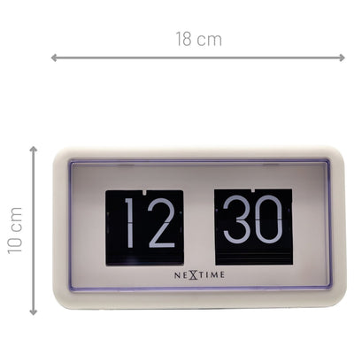 NeXtime Small Flip Wall or Desk Clock White Black 18cm 575228WI 6