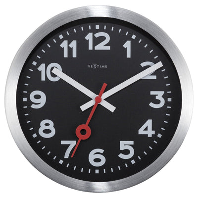 NeXtime Station Number Wall or Desk Clock Black 19cm 573998ARZW 2