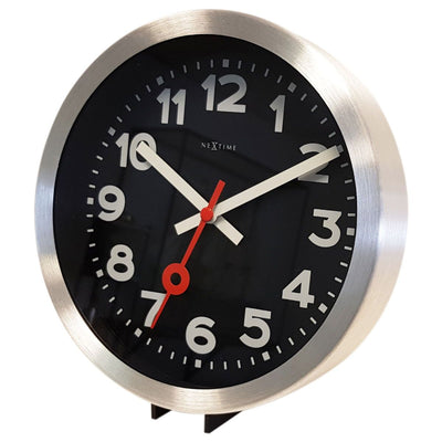 NeXtime Station Number Wall or Desk Clock Black 19cm 573998ARZW 4