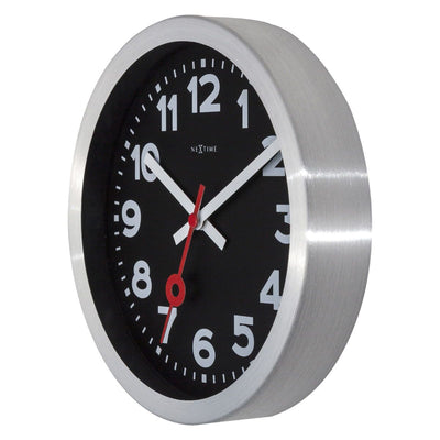NeXtime Station Number Wall or Desk Clock Black 19cm 573998ARZW 7
