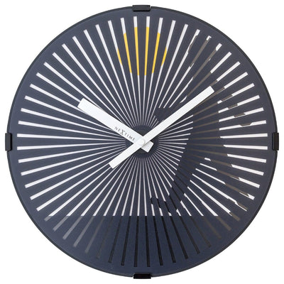 NeXtime Walking Man Motion Wall Clock Black 30cm 573219 2
