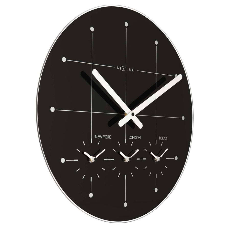 Buy multiple time zone wall clocks online oh clocks for Time zone wall clocks australia
