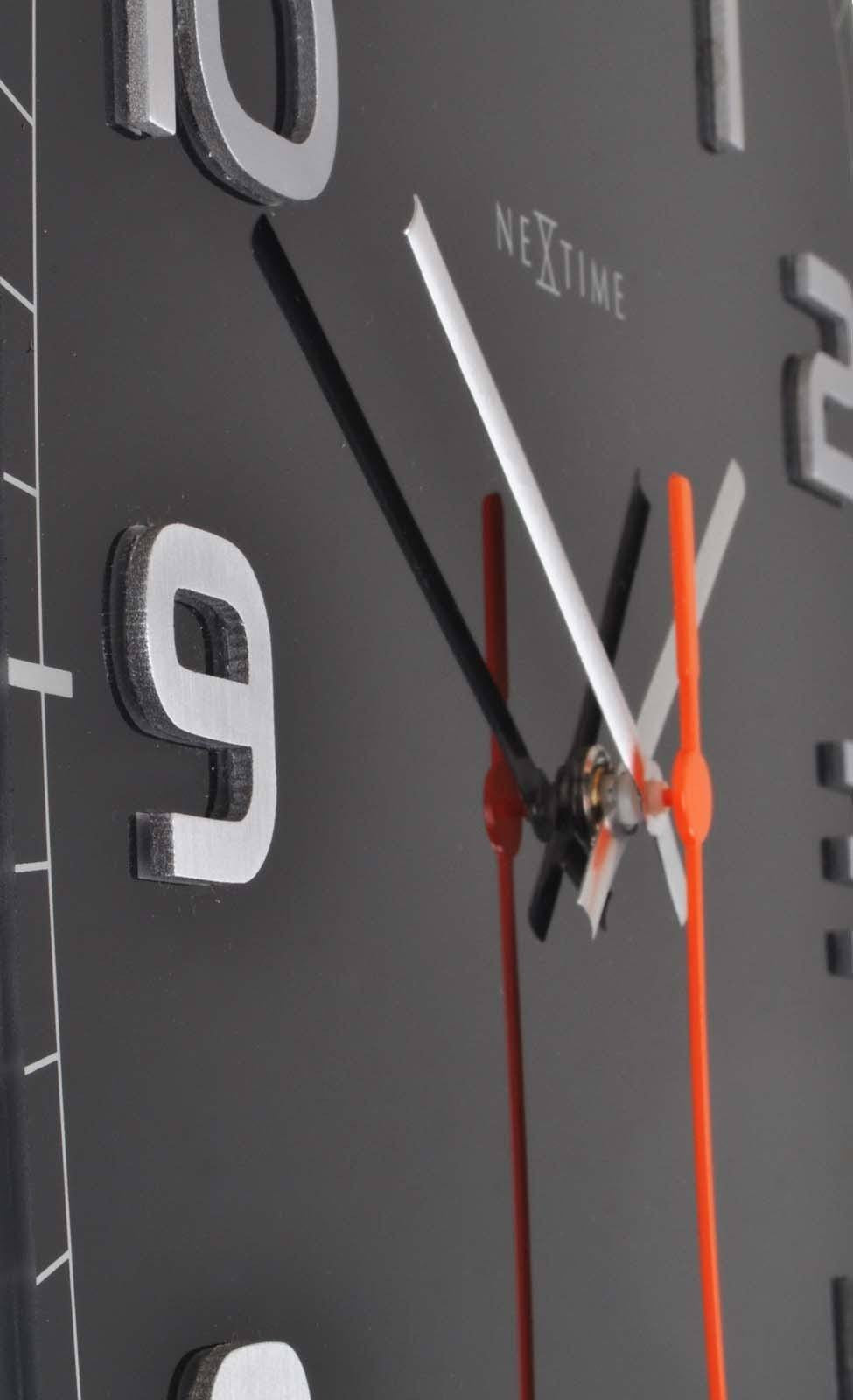 Buy NeXtime Classy Square Glass Wall Clock Black 31cm Online Oh