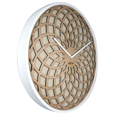 NeXtime Dream Catcher Sun Wood Wall Clock Beige Angle 35cm 573150BE
