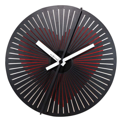 NeXtime Beating Heart Metal Motion Wall Clock 30cm 573124