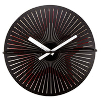 NeXtime Pulsing Star Metal Motion Wall Clock 30cm 573128