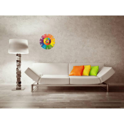 NeXtime Rainbow Glass Wall Clock Glamour 43cm 578129
