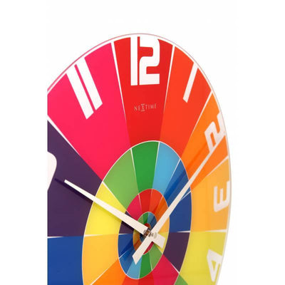 NeXtime Rainbow Glass Wall Clock Zoom2 43cm 578129