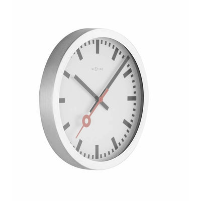 NeXtime Station Aluminium Wall Clock Index Angle1 35cm 573999ST