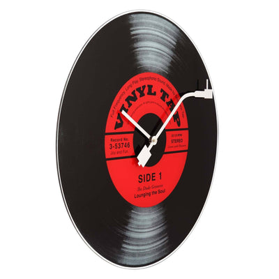 NeXtime Vinyl Tap Glass Wall Clock Angle 43cm 578141