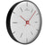 Oliver Hemming Simplex Black Steel Star Index Wall Clock, White, 30cm