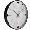 Oliver Hemming Black Steel Case Dots and Lines Wall Clock White 30cm W300B6WTB 1