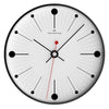 Oliver Hemming Black Steel Case Dots and Lines Wall Clock White 30cm W300B6WTB 2