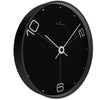Oliver Hemming Black Steel Case Ten To Six Wall Clock Black 30cm W300B14BTW 1