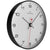 Oliver Hemming Black Steel Case Numbers Wall Clock White 30cm W300B5WTB 1