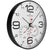 Oliver Hemming Simplex Black Steel Temperature Wall Clock, White, 30cm