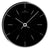 Oliver Hemming Simplex Chrome Star Index Wall Clock, Black, 30cm