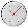 Oliver Hemming Chrome Alternate Bold Line Wall Clock White 30cm W300S2WTR 2