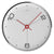 Oliver Hemming Simplex Chrome Ten To Six Wall Clock, White, 30cm