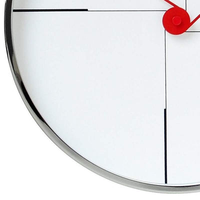 Oliver Hemming Chrome Case Funky Wall Clock White 30cm W300S9W 3