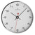 Oliver Hemming Simplex Chrome Numbers Wall Clock, White, 30cm
