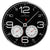 Oliver Hemming Simplex Chrome Temperature Wall Clock, Black, 30cm