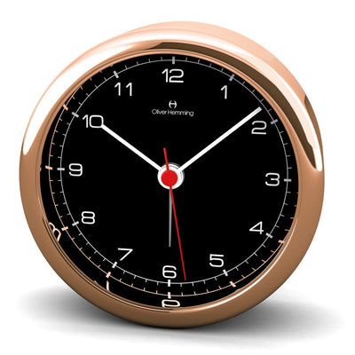 Oliver Hemming Desire Deluxe Rose Gold Numbers Alarm Clock Black 8cm HX80R5B 1