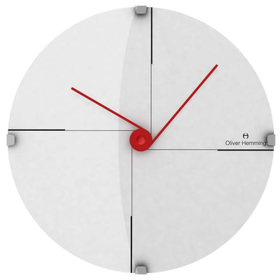 Oliver Hemming Domed Vitri Funky Wall Clock White 30cm W300DG9W 2