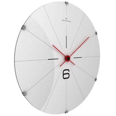 Oliver Hemming Domed Vitri Stainless Steel Wall Clock 37cm W370DG26W 1