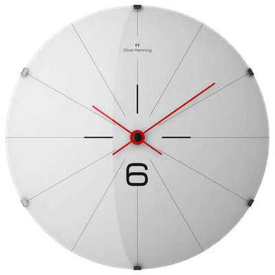 Oliver Hemming Domed Vitri Stainless Steel Wall Clock 37cm W370DG26W 2
