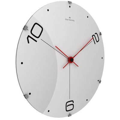 Oliver Hemming Domed Vitri Streched Tri Numeral Wall Clock 37cm W370DG14W 1