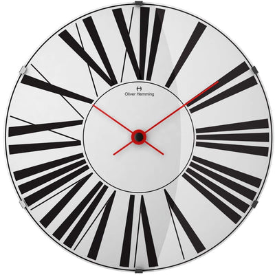 Oliver Hemming Large Domed Vitri Roman Numeral Wall Clock White 50cm W500DG53W 2